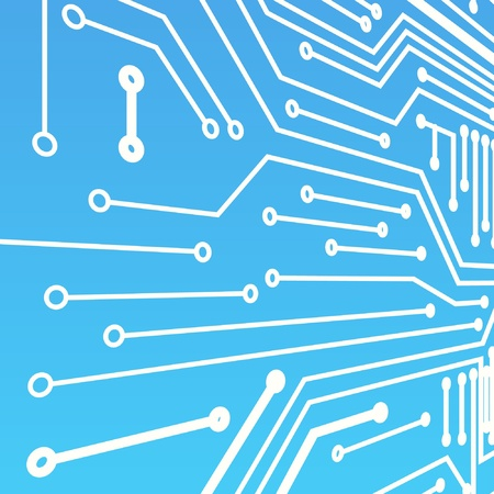 Perspective background of blue computer board Vector