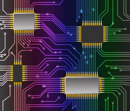 silicio: Fondo de chip sin problemas Vectores