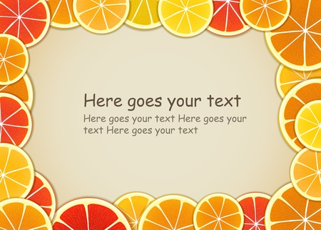 Citrus background. Ready for a text Vector
