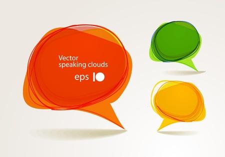 Abstract hand-drawn talking bubbles set Stock Vector - 11333270