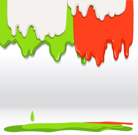 Floud texture background. Red, green and white Vector