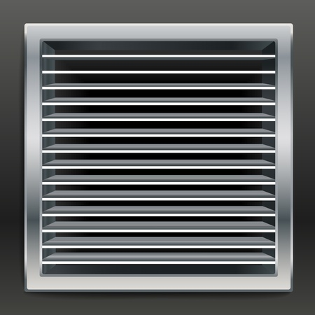 Photo realistic bathroom ventilation window.  Vector