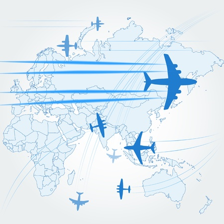 Airplanes background  Stock Vector - 11333322