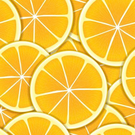 segment: Orange segments seamless background Illustration