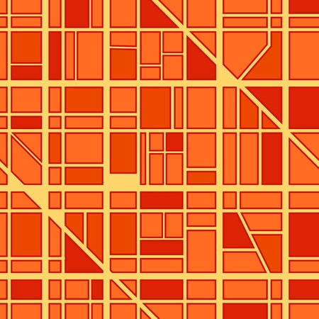 avenue: Abstract seamless background of city district Illustration