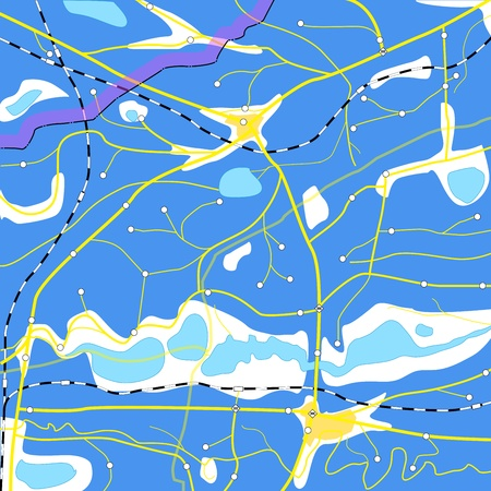 lake district: Abstract blue geography map