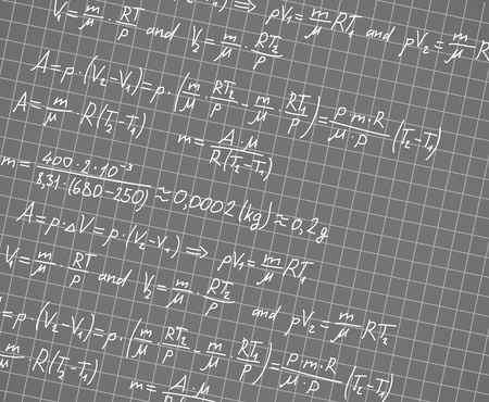 Squared paper with mathematic formulas  Vector