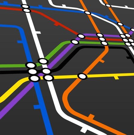 estación del metro: La perspectiva de fondo del r�gimen de metro en negro