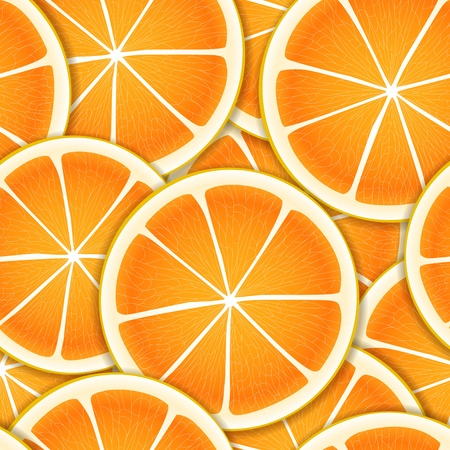 Citrus segments seamless background Vector