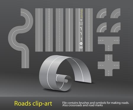 marking':  Vector road elements set