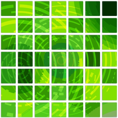 Abstract background of square green tiles Vector