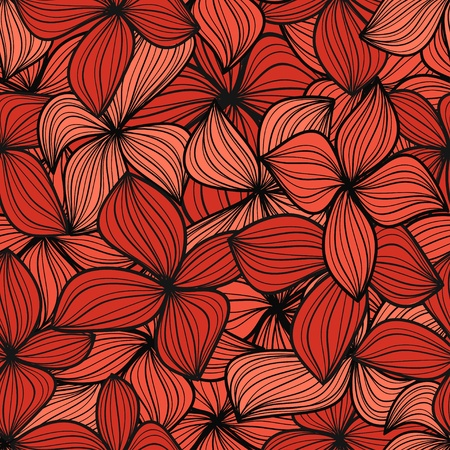 Red leaves seamless background Vector