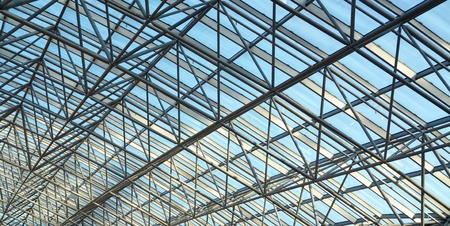 Steel and glass ceiling photo