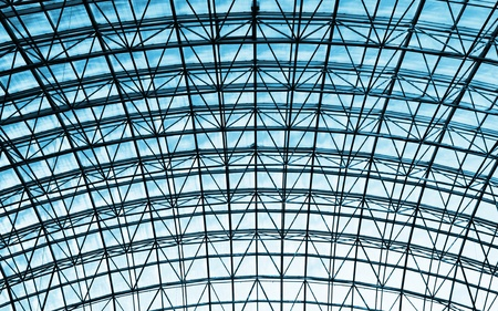 glass ceiling: Steel and glass ceiling Stock Photo