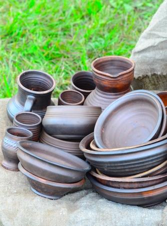 Group of different ceramics photo
