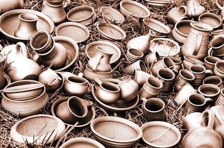 ollas de barro: Grupo de cerámica diferentes