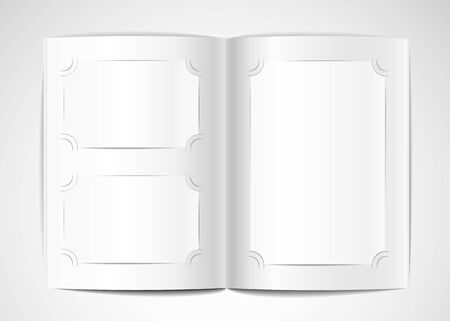 foto: Photo album with blank photo cards