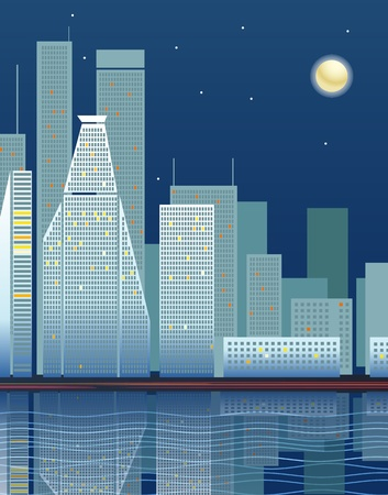 Modern city district illustration Vector