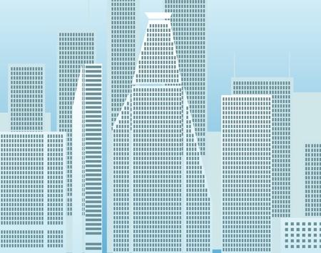 lake district: Modern city district illustration Illustration