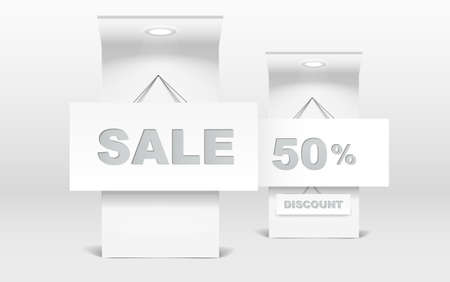 Sale stand on exhibition Vector