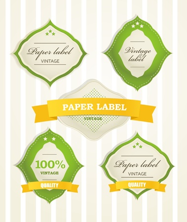 Vintage shopping labels and logo collection Stock Vector - 11430605