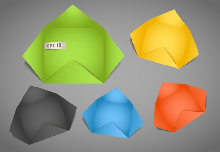 your text here: Color polygonal paper envelope. Place your text here