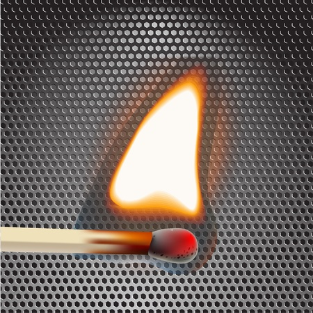 Flamming match illustration Vector