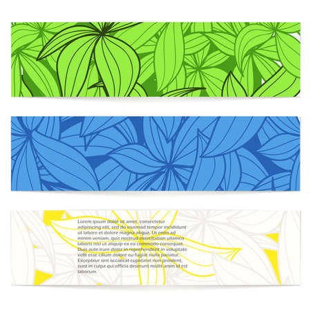 Set of floral vector information banners. Ready for a text Stock Vector - 11430620