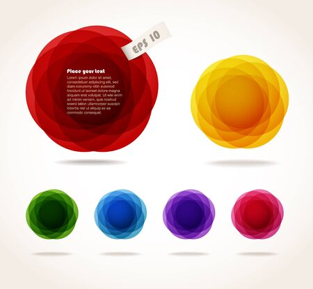 Color abstract bubbles set. Ready for a text Stock Vector - 11430665