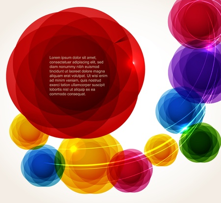 Color abstract bubbles set. Ready for a text Vector