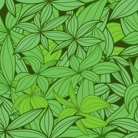 tilling: Leaves seamless background Illustration
