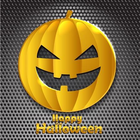 Halloween golden smiling face. Happy Halloween Stock Vector - 11430848