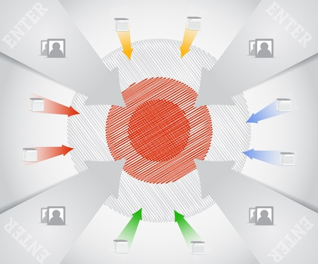 Business target composition Stock Vector - 11430603