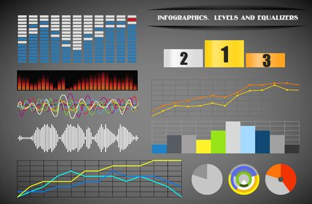 Infographics. Levels and equalizers Vector