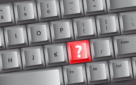 key board: Background of keyboard buttons with ? sign