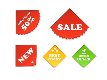 Colorful shopping labels collection  Vector