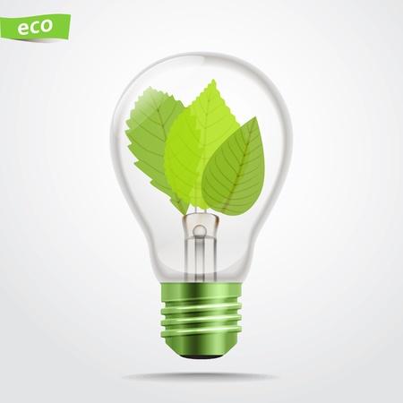 Lámpara verde de energía