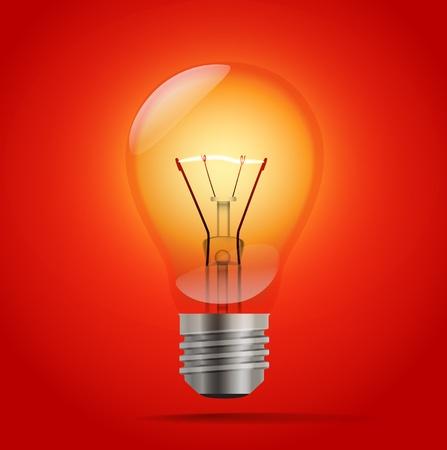 bombillo ahorrador: iluminación realista de la lámpara