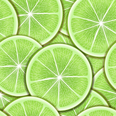lime slice: Citrus seamless background. Illustration