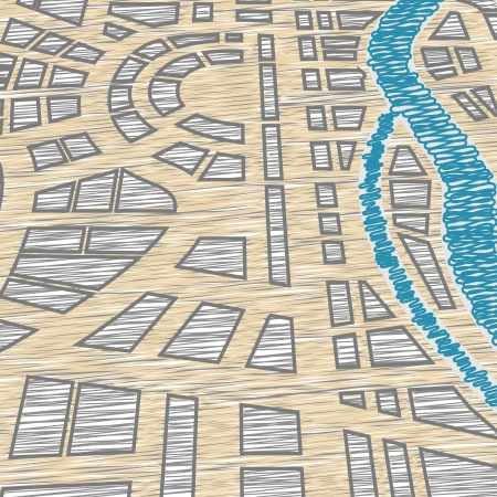 squire: Background of city map Illustration