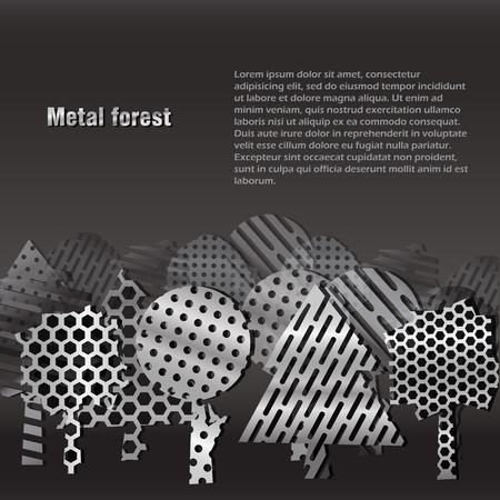 Steel forest background. Place your text Stock Vector - 11430752