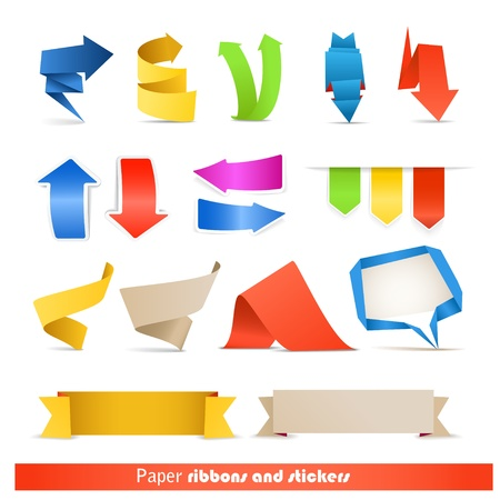 Paper ribbons and arrows collection Vector