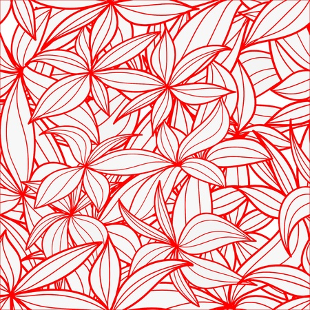 tilling: Leaves seamless background