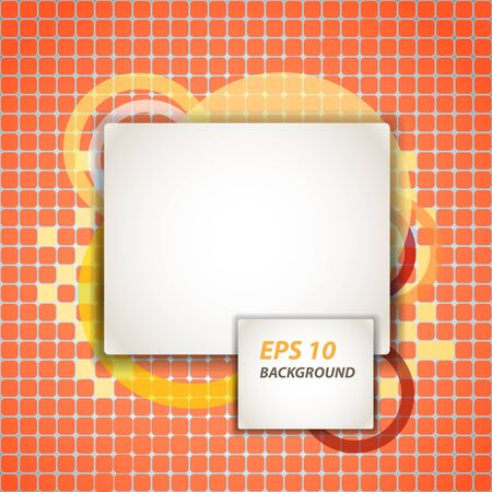 Abstract background of paper blank area on red tile. Ready for a text Vector
