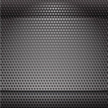 Metal grill net background with blue backlight Stock Vector - 11430785