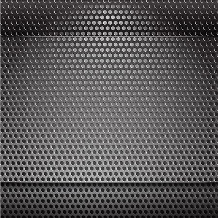 backlight: Metal grill net background with blue backlight Illustration