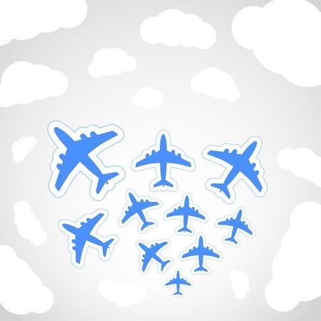 interceptor: Flying airplanes  Illustration