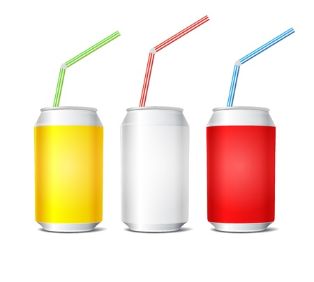 lata de refresco: Colección de latas de acero de colores