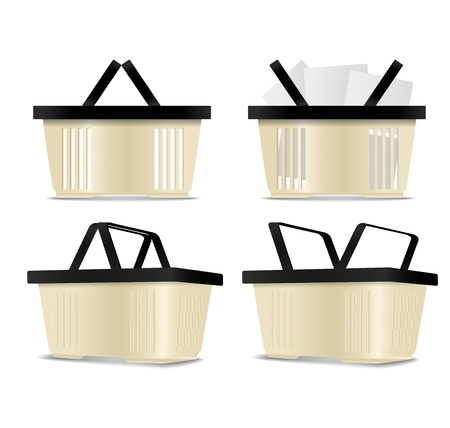 Empty and full Shopping cart icons Vector