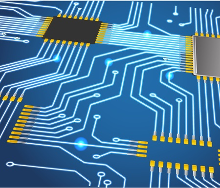 semiconductors: Abstract chip background